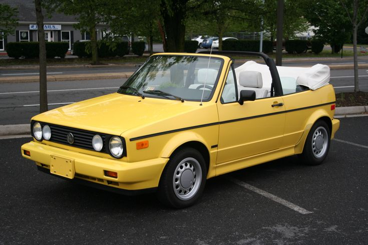 Yellow Volkswagen 1990 Cabrio - I need to build one of these for Molly.  just needs some coil-overs