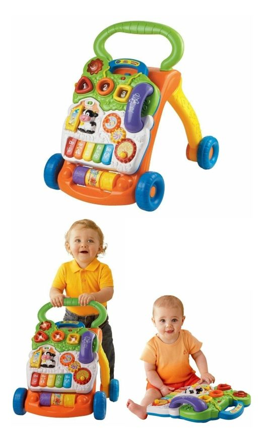 Learning VTech Walker Sit-to-Stand Interactive Kids Toys ...