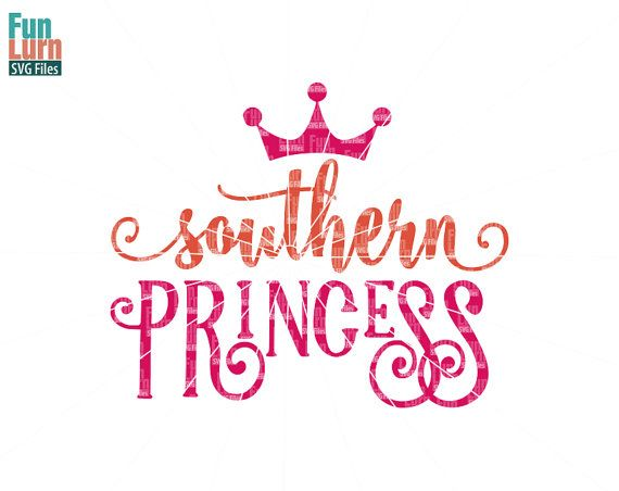 Southern Princess with Crown SVG  southern swirl by FunLurnSVG