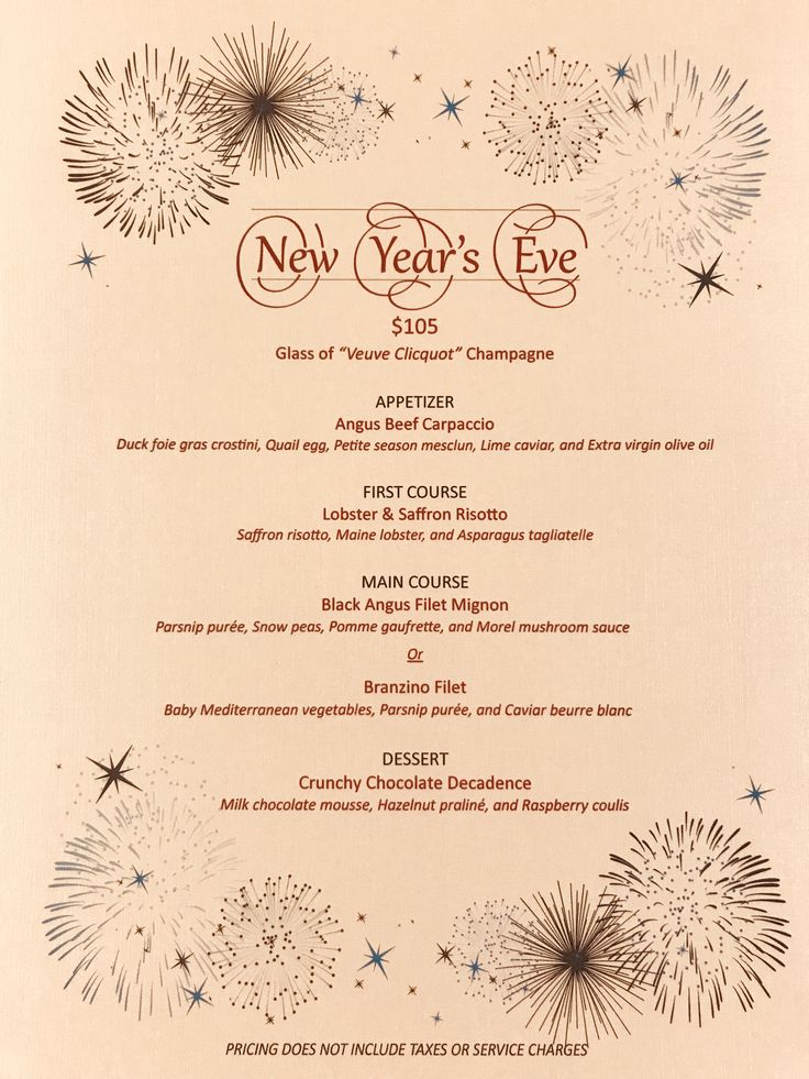 The countdown to New Year's Eve is on. Make plans to join