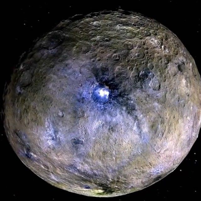 Dwarf planet Ceres is shown in these images from NASA's Dawn spacecraft that…