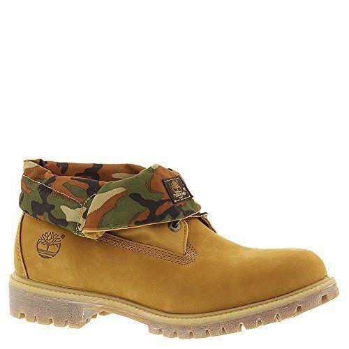 timberland men's roll top fabric winter boot