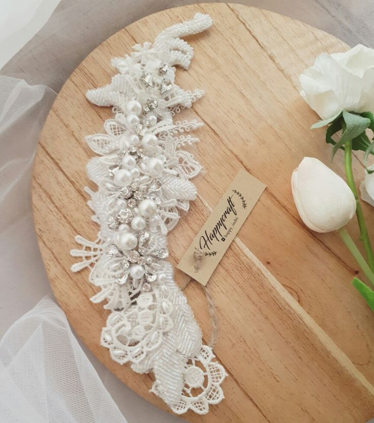 Lace headpiece, hairpiece, bridal