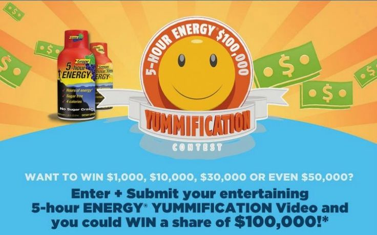 5 Hour Energy Yummification Contest & #Giveaway; Enter to win a 5 hour energy gift pack and a $25 Visa gift card!