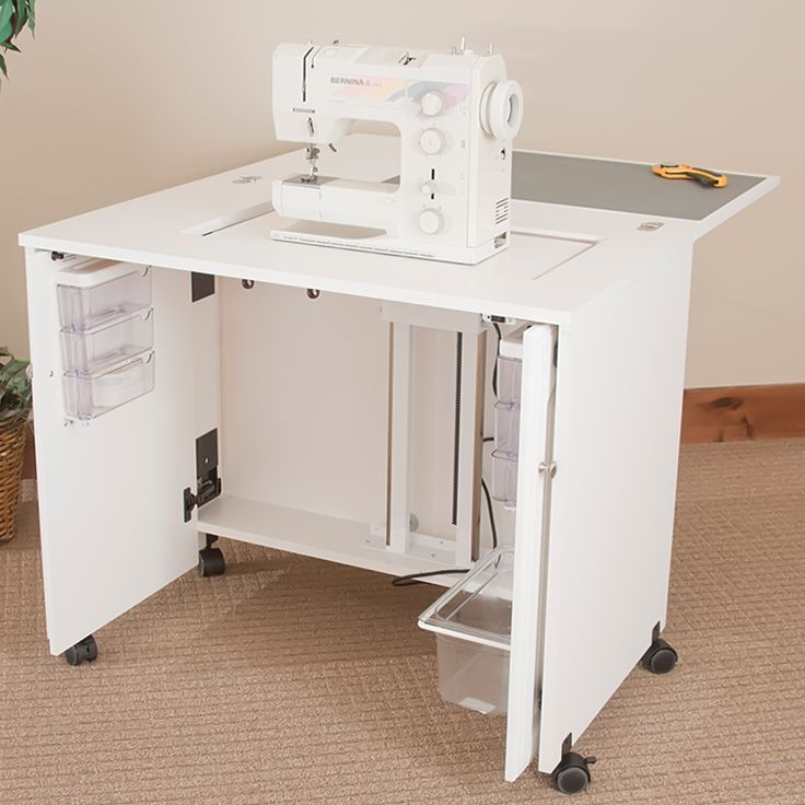 sewingrite sewing machine space saver sewing storage cabinet electric. Black Bedroom Furniture Sets. Home Design Ideas