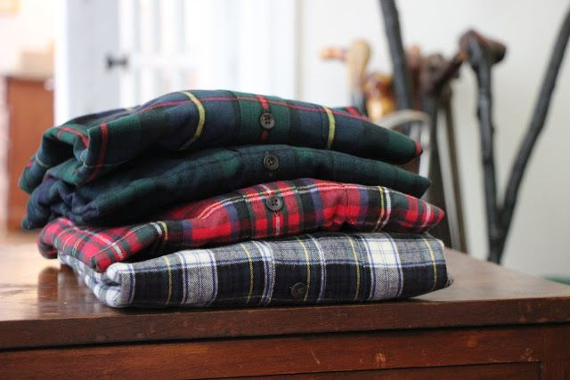 Salt Water New England: L.L. Bean Chamois Shirts and Scotch Plaid Flannel Shirts