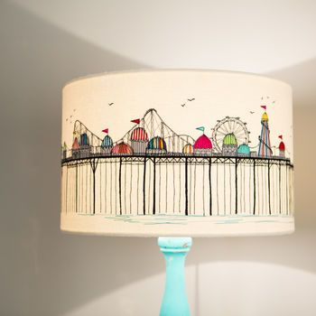 Embroidered 'Pier' Lampshade                                                                                                                                                                                 More