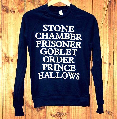 love.: Birthday Presents, Harry Potter Shirts, Book Title, Harry Potter Sweatshirts, Style, Closets, Clothing, Harrypotter, Harry Potter Sweaters
