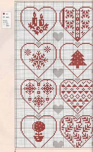Points de croix *<3* Cross stitch Christmas is Love chart1