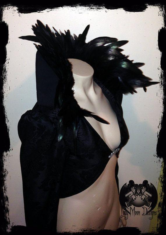 Black Feather Ringmaster Jacket Size Small by annaladymoon on Etsy, $175.00