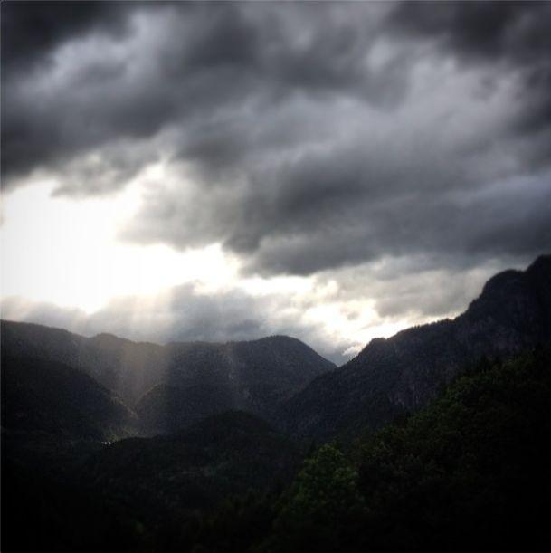 Summer storm with god-rays @ Dragedalen Farm.