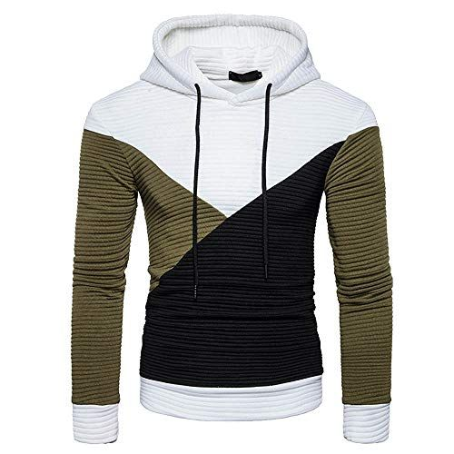 35c3ccf848ef CIELLTE Homme 2019 Mode Hoodie Hooded Patchwork Sweatshirt Outwear Automne  Hiver Blouson Chemise Loose Top Pull