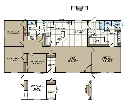 texas manufactured homes modular homes and mobile homes - Midland House Plans