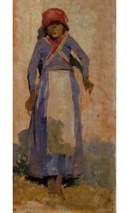 Cansada (1882). Encontra-se no Museu Nacional Soares dos Reis no Porto