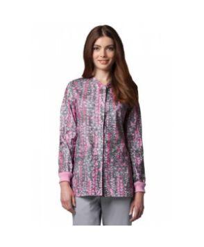 Greys Anatomy Have A Heart snap front print scrub jacket - Have A Heart  #nursing #scrubs | Shop @ NursingClothes.com