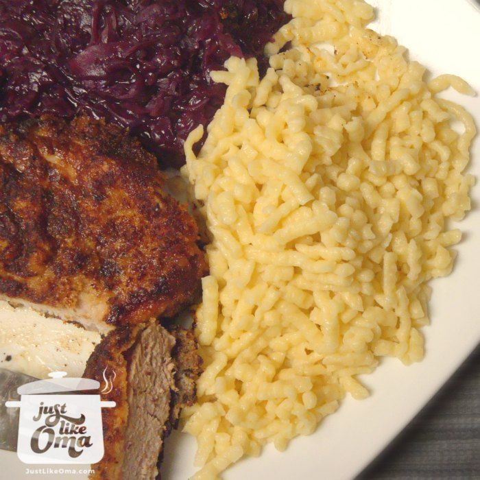 Oma's German Spätzle recipe, homemade and delicious. Check out http://www.quick-german-recipes.com/german-spaetzle-recipe.html  Like it! Share it!   Pin it! Make it! Enjoy it!