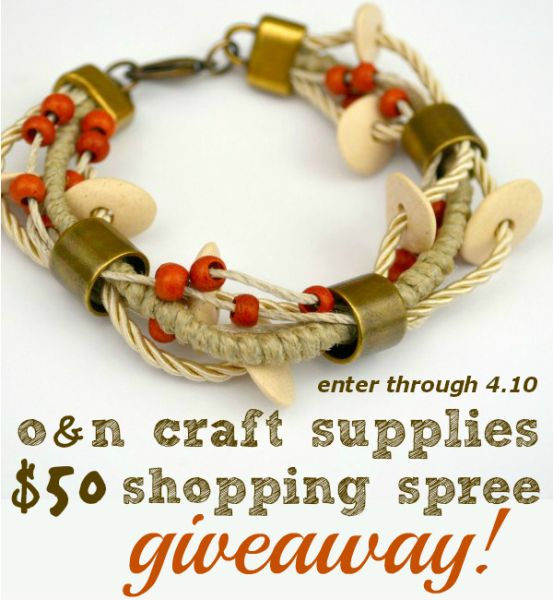 Ceramic Bead Layered Bracelet and $50 O and N Giveaway through 4.10 at www.happyhourprojects.com
