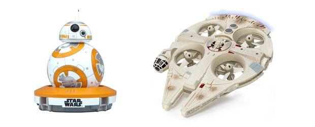 Radio controles de #StarWars del Halcon Milenario y BB-8