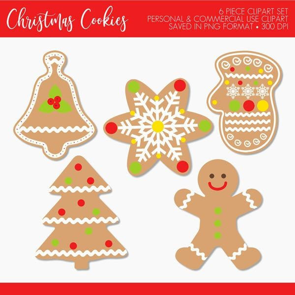 Christmas Cookies Clipartchristmas Cookie Clipartchristmas Etsy Train Birthday Invitations Printed Cards Clip Art