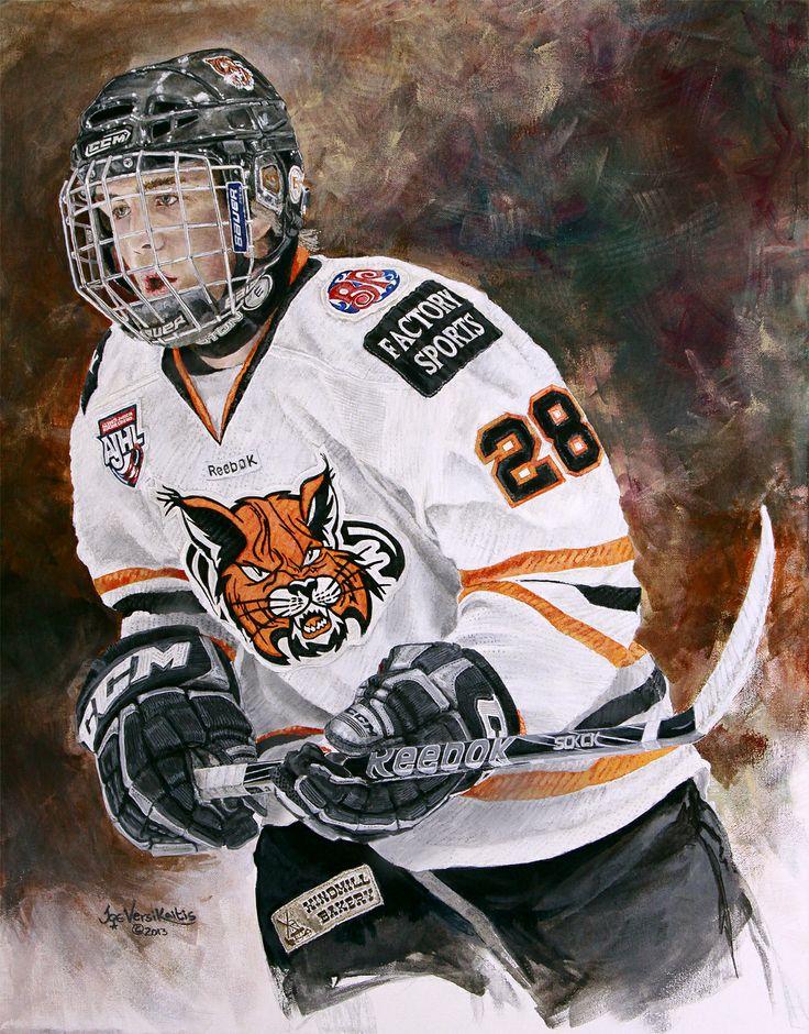 "22"" x 28"" acrylic on canvas painting of Brett Schimmel by Joe Versikaitis"