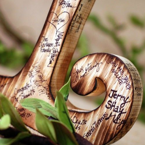 """Cool """"guest book""""Book Wedding, Style Pens, Guest Books, Wedding Guest, Wood Letters, Wooden Guest, Guestbook, Wooden Letters, Book Letters"""