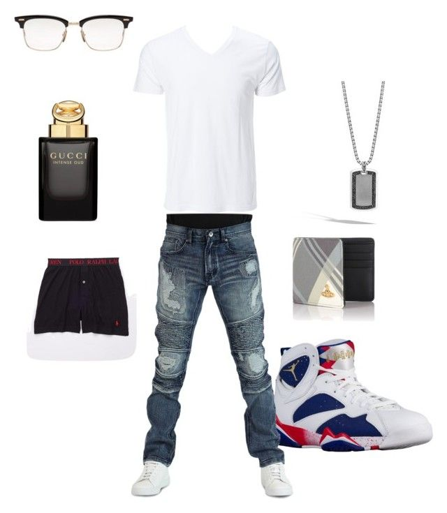 """#9"" by brezzybri145 on Polyvore featuring Simplex Apparel, Earl Jean, John Hardy, Vivienne Westwood, Thom Browne, Gucci, Polo Ralph Lauren, men's fashion and menswear"