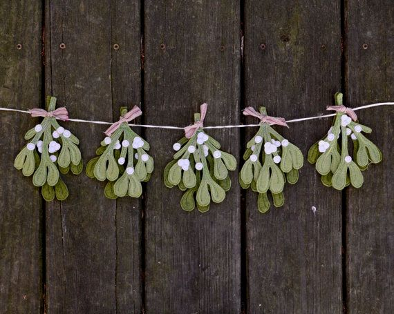 Hey, I found this really awesome Etsy listing at https://www.etsy.com/listing/167781128/mistletoe-holiday-garland-handmade-felt