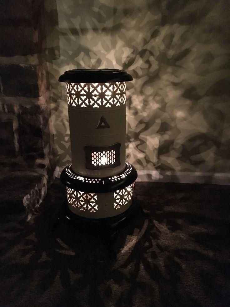 Old Kerosene Heater Turned Into A Lamp Trash To