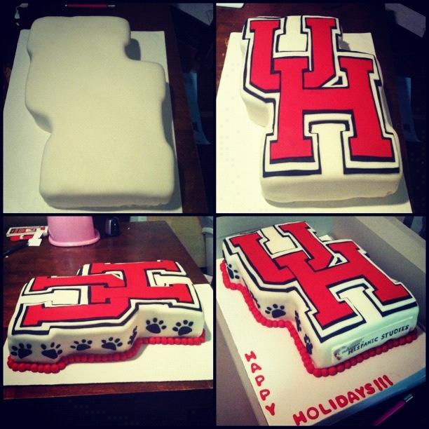 University of houston cake!!  Ig: Darkodelights