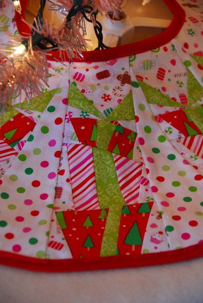 Christmas candy tree skirt DIY by All Things Belle on Cutting Corners college