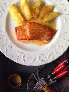 Loredana Sandu...retete pentru toate gusturile: Somon cu sos de mustar si cartofi aurii