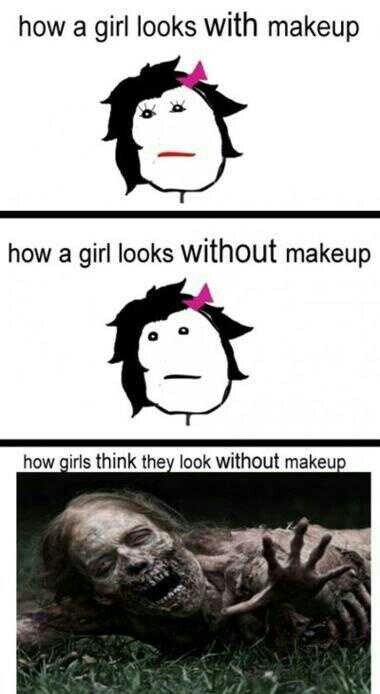 Makeup: Girls, Walks Dead, Sotrue, Makeup, Truths, Funny Stuff, Humor, True Stories, Haha So True