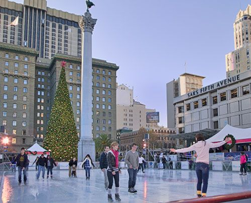 Best Christmas Celebrations in San Francisco California: Union Square