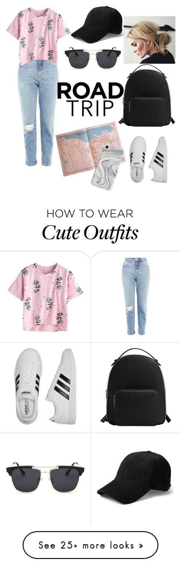 """""""Road Trip outfit"""" by dulcefashion on Polyvore featuring Topshop, adidas, MANGO, rag & bone and Recover"""