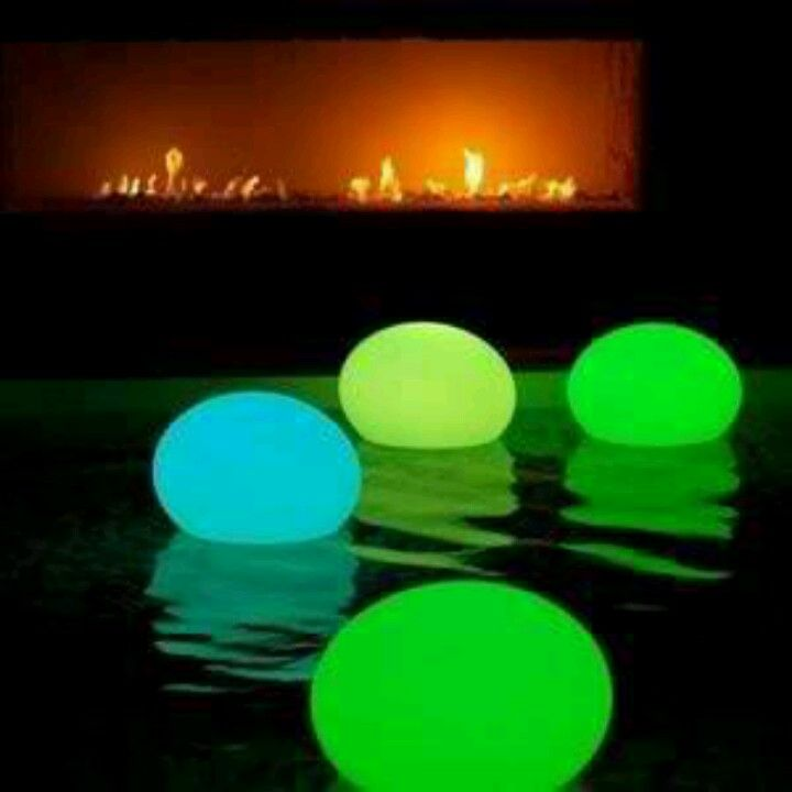 Place glow sticks inside of balloons and place on top of pool. Great for parties or weddings