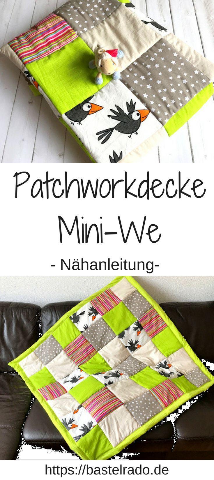 Patchworkdecke Mini-We: Nähe dir die Decke einfach selbst!