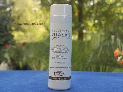 Vivasan Argana Hautfunktionsöl. Pflegendes Körperöl von Vivasan mit Arganöl, Olivenöl, Sojaöl, Palmöl und Vitamin E für eine wundervoll geschmeidige Haut. Zur Pflege normaler, trockener, reife