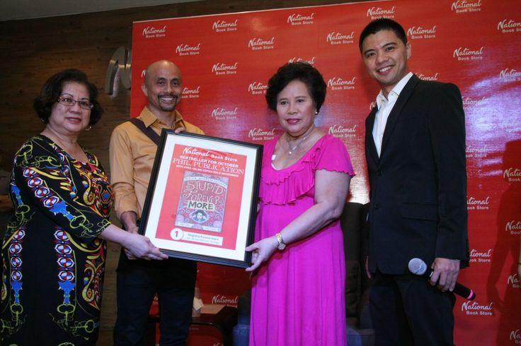 Senator Miriam Defensor Santiago Receives the Certified Bestseller Award for Stupid Is Forevermore!