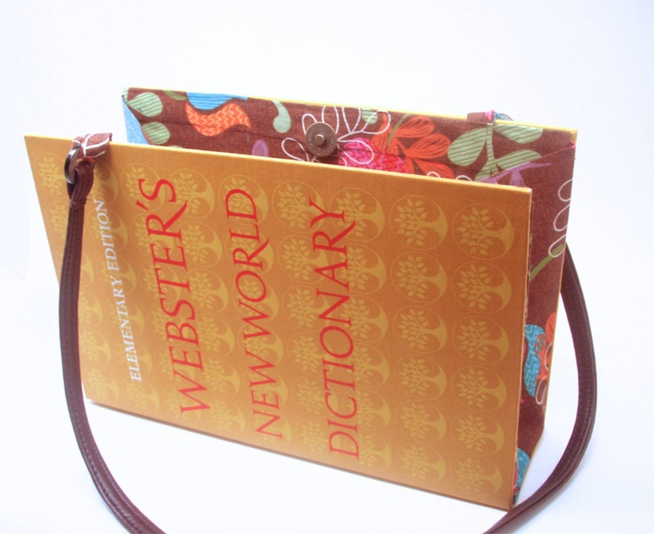 Book Purse made from Websters New World Dictionary with Modern Look. $68.00, via Etsy.