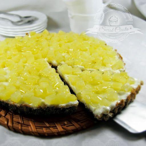 Tarta ananasowa   Świat Ciasta