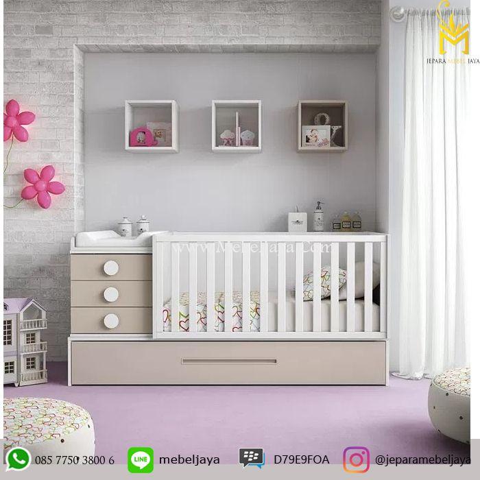 Tempat tidur bayi desain minimalis dan ekonomis dengan bebrapa laci dan lemari untuk menyimpan keperluan baby Anda -Box bayi Minimalis Murah Terbaru Jepara