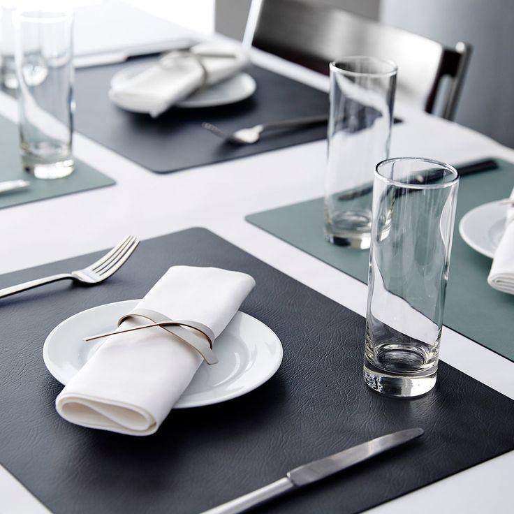 Edle Platzsets tableMAT aus recyceltem Leder - wasserabweisend & abriebfest