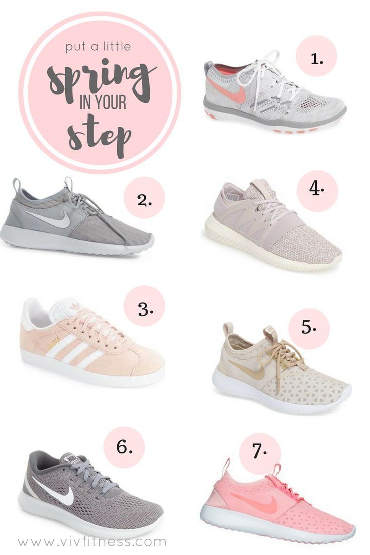 Adorable workout shoes, perfect for spring time! The cutest Nikes and  Adidas from all