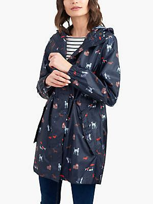 2cccf92150a5 Joules Golightly Pack-Away Dog Print Waterproof Parka Coat
