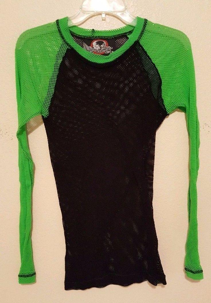 LIP SERVICE Fash-Ist Fishnet shirt #48-79-G - black/green size L