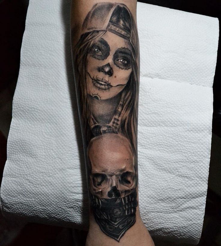 Swag girl skull catrina @pedromullertattoo | Tattoos | Pinterest ...