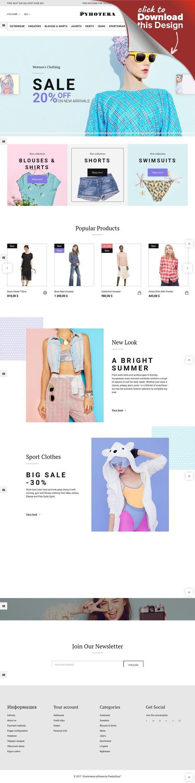 Template PrestaShop Responsive #64480 per Un Sito di Abbigliamento Modelli E-commerce, Temi Prestashop, Template Moda e Bellezza, Template Moda   Template PrestaShop per Un Sito di Abbigliamento. Funzionalità aggiuntive, documentazione dettagliata e immagini stock incluse.