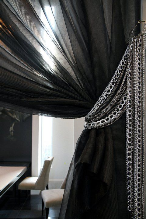 Its all in the details.....Custom Drapery tyebacks, designed and manufactured by Tomas Pearce Interior Design Consulting Inc.