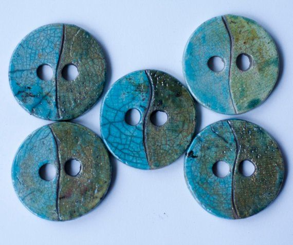 1 inch Sewing Buttons Ceramic Buttons Fashion Accessory Turquoise Buttons