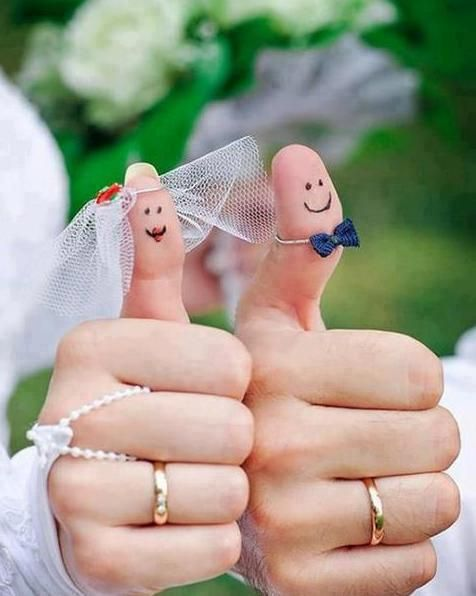 Bride & Groom Thumbs